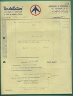 76 Rouen Constellation Ets Queval Manufacture De Confection ( Logo Avion ) 21 12 1959 - Textile & Clothing