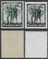 Germania Deutsches Reich 1938 Austria's Annexation 2val Mi N.662-663 Complete Set MNH ** - Unused Stamps