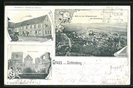CPA Lichtenberg, Gasthaus Zum Schwarzen Ochsen, Vue Générale, Château - Unclassified