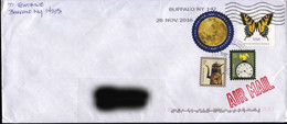 USA 2016, Butterfly / Coffeepot / Clock / Eagle On A Circulated Cover. - Butterflies