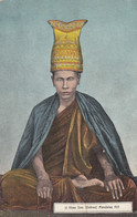 Burma, U Khan Dee The Hermit On The Hill, Mandalay Hill C1900s/10s Vintage Postcard - Myanmar (Burma)