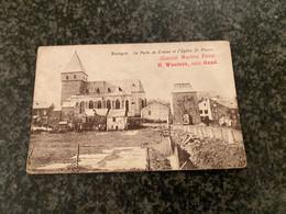 BASTOGNE - Eglise St-Pierre Et Porte De Trèves  - Chocolat Wauters (Bastenaken) - Bastogne