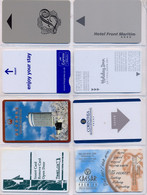 HOTEL : H043 8 HOTEL KEY CARDS AS PICTURED USED - Cartas De Hotels