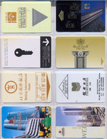 HOTEL : H034 8 HOTEL KEY CARDS AS PICTURED USED - Cartas De Hotels