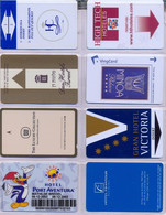 HOTEL : H027 8 HOTEL KEY CARDS AS PICTURED USED - Cartas De Hotels