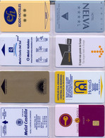 HOTEL : H025 8 HOTEL KEY CARDS AS PICTURED USED - Cartas De Hotels