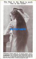 152097 IRELAND EIRE DUBLIN PUBLICITY LADIES  PATERSON'S PATENT HAIR PRESERVING COMB POSTAL POSTCARD - Sin Clasificación