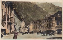 CHIAVENNA-SONDRIO-PIAZZA CASTELLO-BELLA ANIMAZIONE-CARTOLINA VERA FOTOGRAFIA- VIAGGIATA IL 18-3-1910-NPG - Sondrio