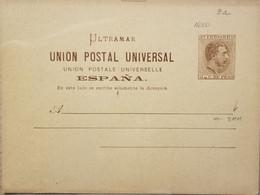 A) 1885, PORTO RICO, POSTAL STATIONARY, KING ALFONSO XII STAMP - Puerto Rico