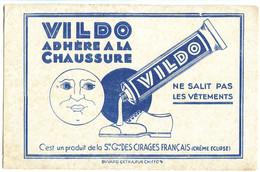 Buvard 21.2 X 13.6 VILDO Produit De La Société Générale Des Cirages Français (Crème Eclipse) Lune - Shoes
