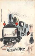 Heyst Sur Mer (colorisée Train  Photo Montage M. Marcovici 1909) - Heist
