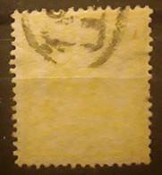 ESPANA ESPAGNE SPAIN 1874, Regence ,  Yvert No 141, 2 C Jaune VARIETE IMPRESSION DÉFECTUEUSE Obl CACHET FACTEUR - Oblitérés