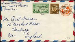 USA - Cover To Banbury, England - 1921-40