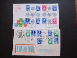 Israel 1971 / 73 Sonderbelege / FDC Jerusalem Randstücke / Herzstücke / Mittelstücke 2 Belege - Used Stamps (with Tabs)