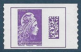 Adhésif 1656 A - Marianne L'Engagée International Timbre De Carnet (2019) Neuf** - 2018-... Marianne L'Engagée