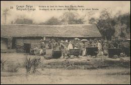 CP/PK 10c ° - 28 - Huilerie Au Bord Du Fleuve/Olieslagerij Op De Oevers Van De Oevers/Ölmühle Am Fluss - Kinshasa 1921 - Interi Postali