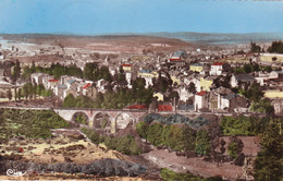 Lozère : LANGOGNE : Vue Générale Et Pont Du Bras : ( C.p.s.m. Dentelée ) - Langogne