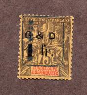 Guadeloupe N°53IIb Adeille Tournée N*  TB Et Signé Cote 400 Euros !!! RARE - Ongebruikt