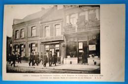 Carte Postale Ancienne- Lens - Obsèques Du Lieutenant Lautour Du 5 E Dragons , Arrivée Des Députés Basly Et Lamendin - Mijnen