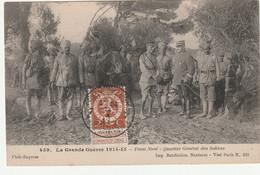 Front Nord  -Quartier  Général  Des Indiens - War 1914-18