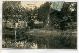 45 TRIGUERES  Carte Rare Prise D'eau De La Gare Villageois Petit Pont Bois 1905 Timb      /D03-2017 - Sonstige Gemeinden