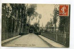 45 TRIGUERES  Charette De Foin Route Les Ponts écrite 1910 Depuis Chateau De Courtoiseau     /D03-2017 - Sonstige Gemeinden