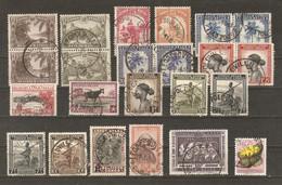 Congo Belge - Petit Lot De 23 Timbres Avec Cachet LEOPOLDVILLE - Marcophilie - 1923-44: Usati