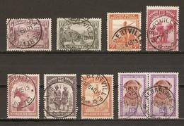Congo Belge - Petit Lot De 9 Timbres Avec Cachet ALBERTVILLE - Marcophilie - 1923-44: Usati