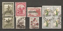 Congo Belge - Petit Lot De 10 Timbres Avec Cachet ELISABETHVILLE - Marcophilie - 1923-44: Usati