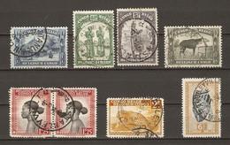 Congo Belge - Petit Lot De 8 Timbres Avec Cachet STANLEYVILLE - Marcophilie - 1923-44: Usati