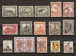 Congo Belge - Petit Lot De 16 Timbres Avec Cachet COSTERMANSVILLE - Marcophilie - 1923-44: Usati