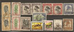Congo Belge - Petit Lot De 15 Timbres Avec Cachet LULUABOURG - Marcophilie - 1923-44: Usati