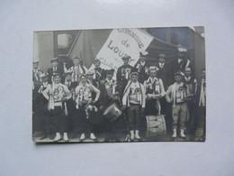CARTE PHOTO - 45 LOIRET - LOURY : Scène Animée - Conscrits De LOURY - Altri Comuni