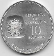Venezuela - 10 Bolivares 1973 - Argent - SUP - Venezuela