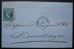 Boulogne Sur Mer (Pas De Calais) 1863 Lettre De Vidor Fils Négociant Armateur, Pour Dunkerque - 1849-1876: Classic Period