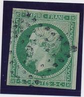 5 C Vert N° 12 TB Signé Calves. - 1853-1860 Napoleon III