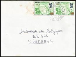 Zaïre - Lettre / Brief / Letter - 1371° X 2 - 1980-89: Usati