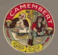 ETIQUETTE De FROMAGE..CAMEMBERT Fabriqué En HAUTE MARNE.. Bon Fromage Fait Apprécier Bon Vin... - Quesos