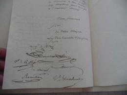Pièce Signée Boudier  Bray Rouillé Somme 1829 Incendie à Hangard Au Roi - Handtekening
