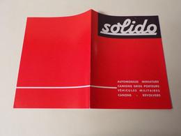 25/ Dépliant/catalogue Miniatures Solido De 1963 - Collezioni