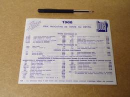 30/  Dépliant 3 Pages Avec Prix - JOUEF- 1968 - Sammlungen