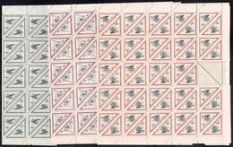 ** 1952 Madarak Sorozat Hajtott 100-as ívekben / Sheet Set (az 1,60Ft ívből 2 Bélyeg Hiányzik / 2 X 1,60Ft Missing) Tete - Zonder Classificatie