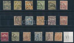 """O 1904 Turul Sor 12f Nélkül, """"a"""" Számvízjel állás (322.000) / Mi 74-79 + 81-89, Position Of IV """"a"""" - Zonder Classificatie"""
