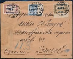 """SHS 1918 Kiadatlan SHS Felülnyomású Turul 2K Valamint Parlament 1K Fordított Felülnyomással és 2K """"ZAGREB"""" Helyi Ajánlot - Zonder Classificatie"""