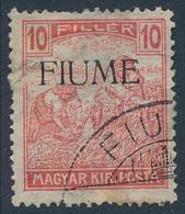 O Fiume 1918 Arató 10f M II. Certificate: Bodor (Sassone EUR 24.000,-) - Zonder Classificatie