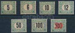 """**, * 1905 Zöldportó """"A"""" Sor Postatiszta 6f, 50f, 100f értékekkel + Postatiszta Kisegítő 41 (202.000+++) - Zonder Classificatie"""