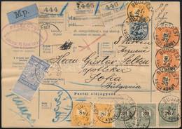 1895 Szállítólevél Szófiába 3x8kr + 3x30kr + 3x50kr Bérmentesítéssel, Certificate: Czirók - Zonder Classificatie