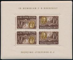 ** 1947 Roosevelt Fordított állású Kisívsor (150.000) / Mi 985-992 Tete Beche Mini Sheets - Zonder Classificatie