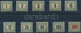 **, * 1903 Zöldportó Sor 1. Vízjelállás, Az 1f, 12f, 20f Falcosak, A Többi érték Postatiszta, Hozzá 1915 Kisegítő Portó  - Zonder Classificatie