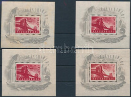** 1948 4 Db Lánchíd I Blokk (120.000) (vegyes Minőség / Mixed Quality) - Zonder Classificatie